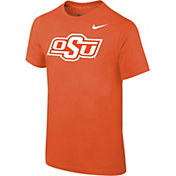 Nike Youth Oklahoma State Cowboys Orange Cotton Logo T-Shirt