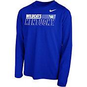 Nike Youth Kentucky Wildcats Blue Legend Long Sleeve Performance T-Shirt