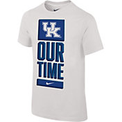 Nike Youth Kentucky Wildcats 'Our Time' Bench White T-Shirt