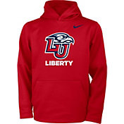 Nike Youth Liberty Flames Red Therma Pullover Hoodie