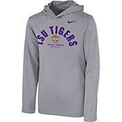 Nike Youth LSU Tigers Grey Pullover Hoodie