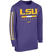 Nike Youth LSU Tigers Purple Core Long Sleeve Cotton Football T-Shirt