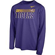 Nike Youth LSU Tigers Purple Legend Long Sleeve Performance T-Shirt