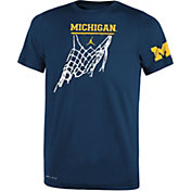 Jordan Youth Michigan Wolverines Blue Legend Icon Performance Basketball T-Shirt