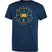 Jordan Youth Michigan Wolverines Blue Legend Practice Performance Basketball T-Shirt