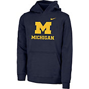 Nike Youth Michigan Wolverines Blue Club Fleece Pullover Hoodie
