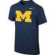 Nike Youth Michigan Wolverines Blue Core Cotton T-Shirt