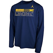 Nike Youth Michigan Wolverines Blue Legend Long Sleeve Performance T-Shirt