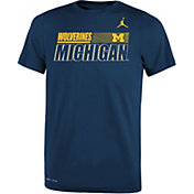 Nike Youth Michigan Wolverines Blue Dri-FIT Legend Performance T-Shirt