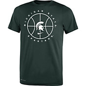 Nike Youth Michigan State Spartans White Legend Practice Performance Basketball T-Shirt
