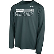 Nike Youth Michigan State Spartans Green Legend Long Sleeve Performance T-Shirt