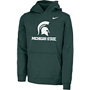 Nike Youth Michigan State Spartans Green Club Fleece Pullover Hoodie