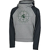 Nike Youth Michigan State Spartans Grey Spotlight Pullover Basketball Hoodie