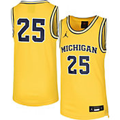 Jordan Youth Michigan Wolverines #1 Maize Replica Basketball Jersey