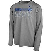 Nike Youth Memphis Tigers Grey Legend Long Sleeve Performance T-Shirt