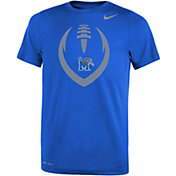 Nike Youth Memphis Tigers Blue Legend Performance Football T-Shirt