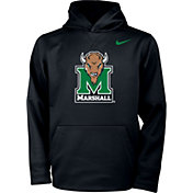 Nike Youth Marshall Thundering Herd Therma Pullover Black Hoodie