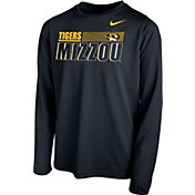 Nike Youth Missouri Tigers Legend Long Sleeve Performance Black T-Shirt