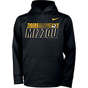 Nike Youth Missouri Tigers Therma Pullover Black Hoodie