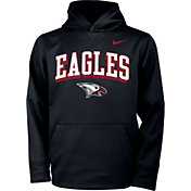 Nike Youth North Carolina Central Eagles Therma Pullover Black Hoodie