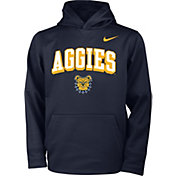 Nike Youth North Carolina A&T Aggies Aggie Blue Therma Pullover Hoodie
