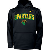 Nike Youth Norfolk State Spartans Therma Pullover Black Hoodie