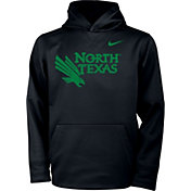Nike Youth North Texas Mean Green Therma Pullover Black Hoodie