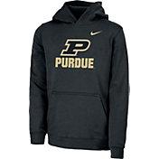 Nike Youth Purdue Boilermakers Club Fleece Pullover Black Hoodie