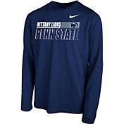 Nike Youth Penn State Nittany Lions Blue Legend Long Sleeve Performance T-Shirt