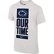 Nike Youth Penn State Nittany Lions 'Our Time' Bench White T-Shirt