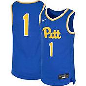 Nike Youth Pitt Panthers #1 Blue Replica Basketball Jersey