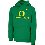 Nike Youth Oregon Ducks Green Club Fleece Pullover Hoodie