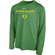 Nike Youth Oregon Ducks Green Hook Dri-FIT Legend Long Sleeve Basketball T-Shirt