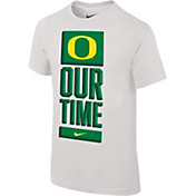 Nike Youth Oregon Ducks 'Our Time' Bench White T-Shirt