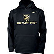 Nike Youth Army West Point Black Knights Therma Pullover Army Black Hoodie