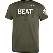 Nike Youth Army Black Knights Green 'Beat Navy' Legend Performance T-Shirt