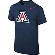 Nike Youth Arizona Wildcats Navy Cotton Logo T-Shirt