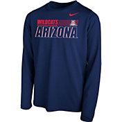 Nike Youth Arizona Wildcats Navy Legend Long Sleeve Performance T-Shirt