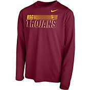 Nike Youth USC Trojans Cardinal Legend Long Sleeve Performance T-Shirt