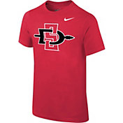 Nike Youth San Diego State Aztecs Scarlet Core Cotton T-Shirt