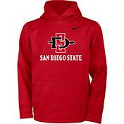 Nike Youth San Diego State Aztecs Scarlet Therma Pullover Hoodie