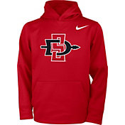 Nike Youth San Diego State Aztecs Scarlet Therma Basketball Hoodie