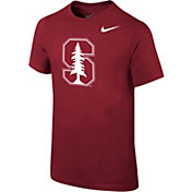 Nike Youth Stanford Cardinal Cardinal Cotton Logo T-Shirt