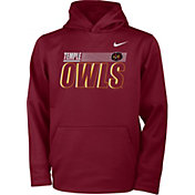 Nike Youth Temple Owls Cherry Therma-FIT Pullover Hoodie