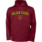 Nike Youth Tuskegee Golden Tigers Crimson Therma Pullover Hoodie