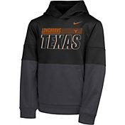 Nike Youth Texas Longhorns Therma Color Block Pullover Black Hoodie