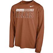Nike Youth Texas Longhorns Burnt Orange Legend Long Sleeve Performance T-Shirt