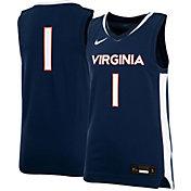 Nike Youth Virginia Cavaliers #1 Blue Replica Basketball Jersey