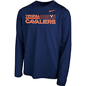 Nike Youth Virginia Cavaliers Blue Legend Long Sleeve Performance T-Shirt