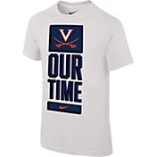 Nike Youth Virginia Cavaliers 'Our Time' Bench White T-Shirt